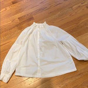 White peasant top
